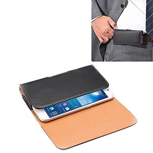 Yunchao Funda protectora Funda de cuero de flip vertical de textura de caballo loco de 6,3 pulgadas / bolso de cintura con tablilla trasera for Samsung Galaxy Mega 6.3 / Mega 2 / G750F caja d