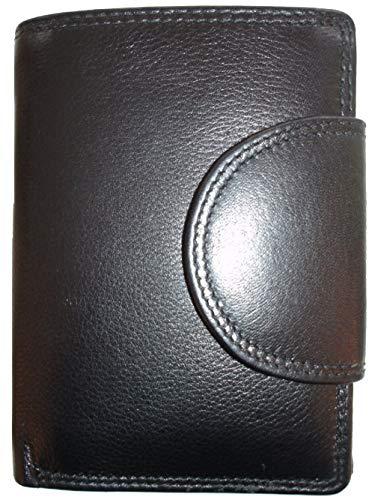 Josephine Osthoff Handtaschen-Manufaktur Leder Geldbörse Wiener Minibrieftasche Schwarz mit RFID