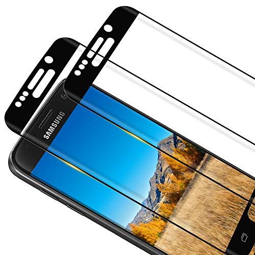 RIIMUHIR [2 pezzi] Pellicola protettiva in vetro temperato per Samsung Galaxy S6 Edge, anti-bolle, antigraffio HD, sottile e ad alta risoluzione, in vetro temperato per Samsung S6 Edge