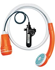 LUOOV [アップグレード] ポータブル キャンプ シャワー コンパクト シャワー ポンプ デュアル 取り外し可能 USB 充電式 バッテリー ハンドヘルド アウトドア シャワー ヘッド キャンプ ハイキング 旅行 使用 ポータブル シャワー