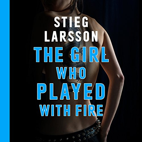 The Girl Who Played With Fire audiobook cover art