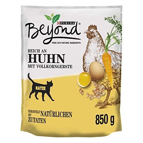 PURINA BEYOND Katzentrockenfutter weizenfrei, mit Huhn und Vollkorngerste, 6er Pack (6 x 850g)