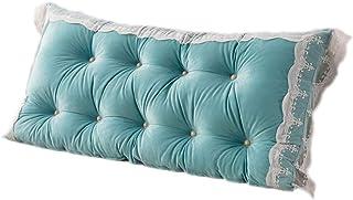 Almohada de Apoyo de posicionamiento de Reposo de Cama Triangular Grande, Almohada de cabecera de cuña para Leer en la Cama (Color : Blue, Size : 120cm)