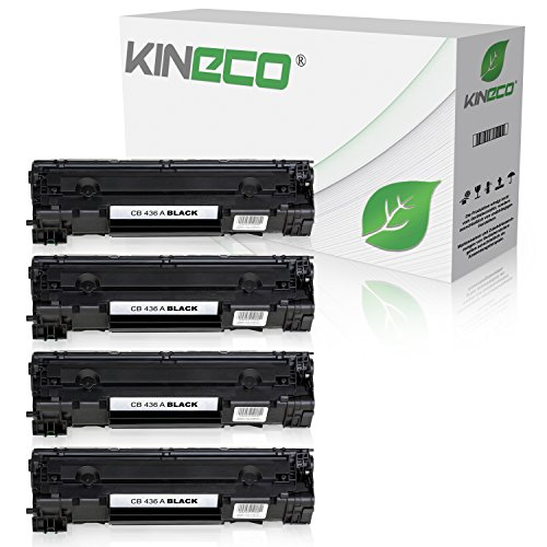 4 Kineco Toner kompatibel zu HP CB436A Laserjet P 1503 1504 1505 1506 N M 1522 NF 1120 A N H W MFP 1500 Series - 36A - Schwarz je 2.000 Seiten
