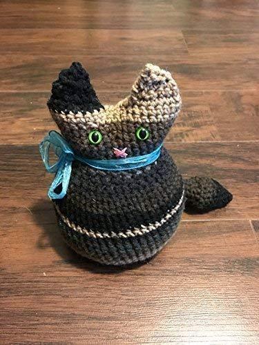 Crochet Cat Doorstop, Handmade, Home Decor, Kitty, Decorative, Christmas Present