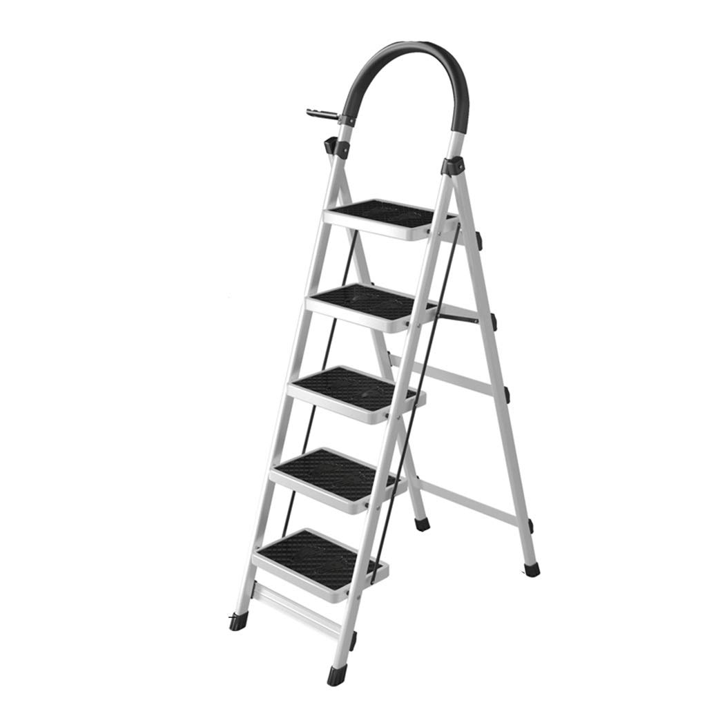 Escalera plegable Escalera telescópica, escalera interior de cinco escalones Escalera plegable de cuatro pasos de metal Escalera portátil del almacén del hotel Escalera multifunción Multifuncional: Amazon.es: Bricolaje y herramientas
