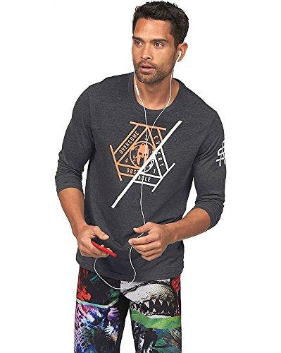 Reebok SFM LS Brand T - Camiseta para Hombre, Color Negro, Talla XS