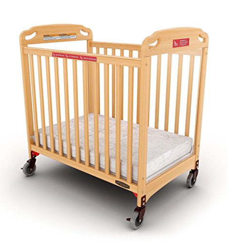 Child Craft Safe Haven Daycare Evacuation Compact Crib with Casters, Natural