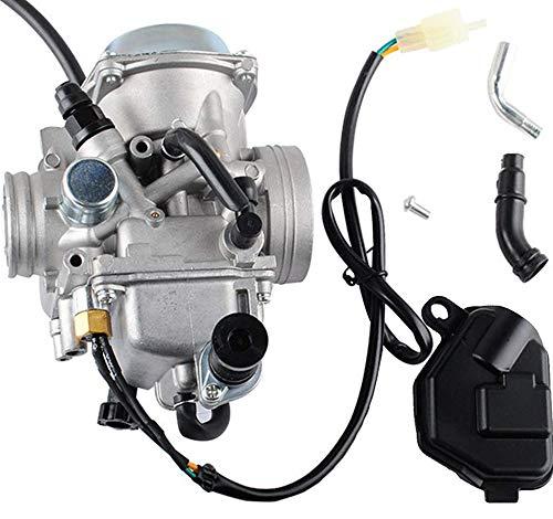 TRX350 Carburetor for Hon-da 350 Rancher 2000-2006 FE/FM/TE/TM/ES Atv 4 Stroke Carburetor with Black Throttle Base Cover