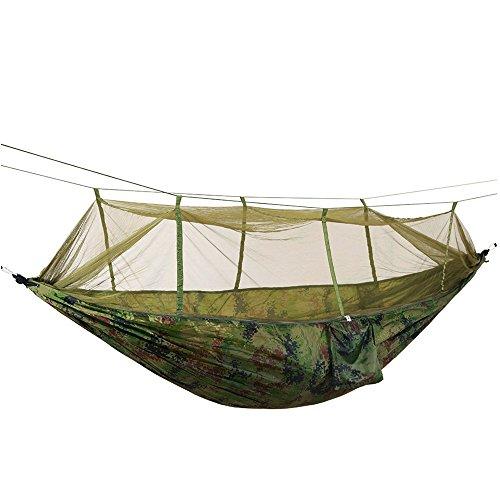 MICEROSHE Hamac Confortable Hamac Double lumière Swing Swing Portable avec Mousqueton/Camouflage hamac Durable et Polyvalent