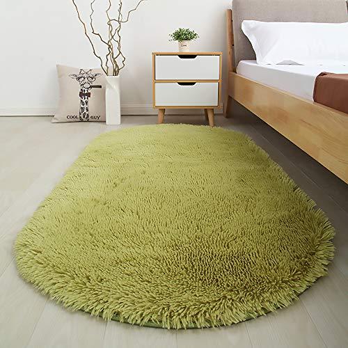 Softlife Flauschige Teppiche für Schlafzimmer, zotteliger Teppich, niedlicher Teppich für Mädchenzimmer, Wohnzimmer, Kinderzimmer, Heimdekoration 2.6' x 5.3' Grün (Fresh Green)