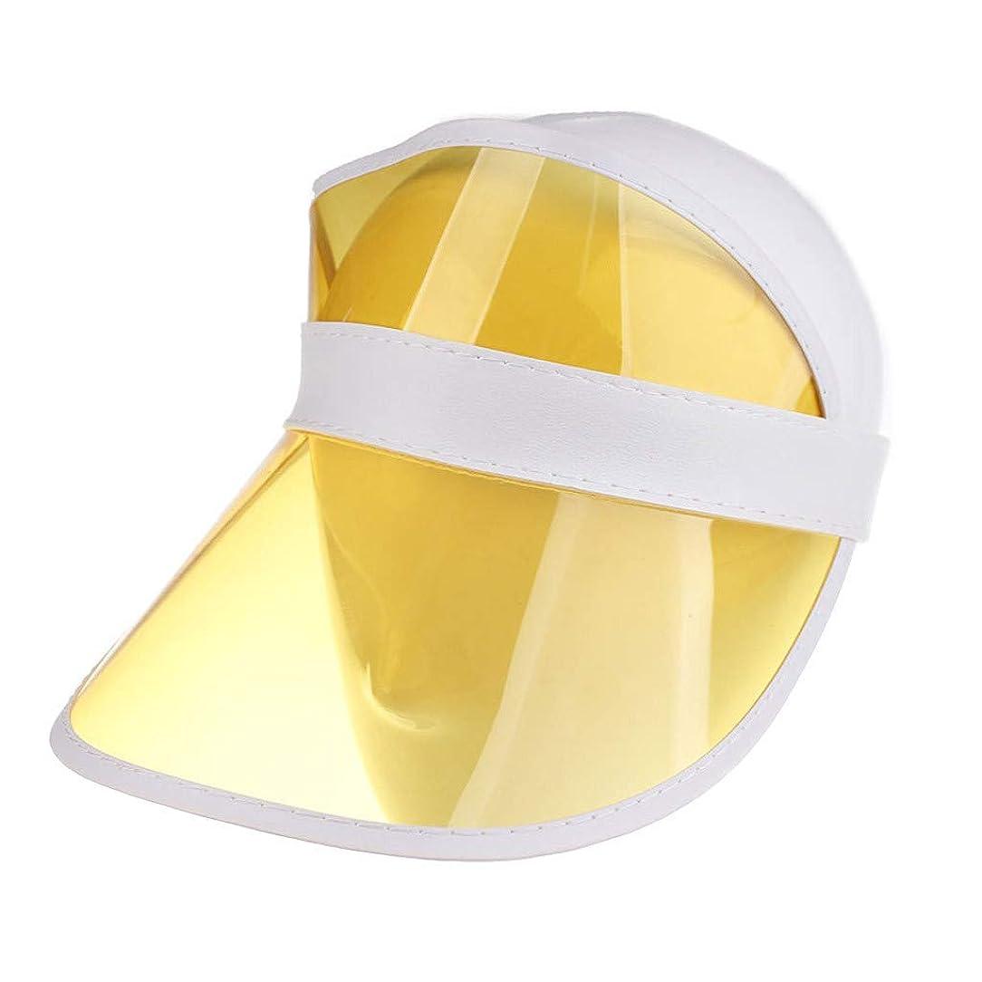 センター交通モデレータレディースクリアハット帽子レインバイザー UVカットユニセックスアウトドア野球帽帽子