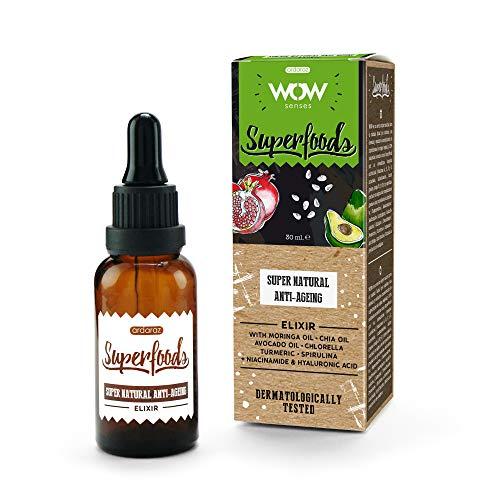 Ardaraz Serum Facial antiarrugas con Acido Hialuronico puro Vitamina A, B, C y D e ingredientes de origen vegetal y naturales Aguacate, Granada, Cúrcuma. 30ml