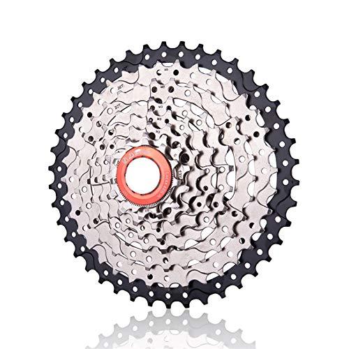 Ruedas Libres 8 Velocidad 11-42T MTB Cassette 8S Mountain Bike Acero Freewheel Sw Wide Ratio 8V 42T Sprocket para M310 TX35 K7 X4 Piezas de Bicicleta (Color : 8S 11 42T)