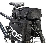 DCCN 37L Gepäckträgertasche Fahrradtasche Satteltasche 3 in 1 Multifunction Reißfest Schockresistent Fahrradträger wasserdichte Fahrrad-Hecktasche Packtasche mit Regenhülle