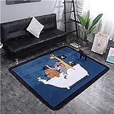 DONGART Krabbeldecke Verdickungsmatte Cartoon Tier Wohnzimmer Schlafzimmer Teppich rutschfeste Hause Pirat 145 * 195cm