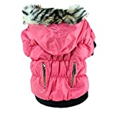 Soly Tech Pet Dog Coat Puppy Jacket Soft Padded Down Hoodie Snow Coat, Cold Weather Dog Apparel for Poodle, Mini Pinscher, Shih tzu, Chihuahua, Yorkie
