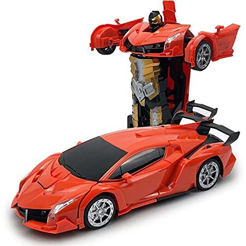 SFOOS Toque Deformación Dual Modo Robot RC Car, 360 ° Rotating Stunt RC Coche Deportivo, Juguetes para niños Transformers Modelos Modelos Remote Control Cars Gifts de Navidad para niños (Color : J)
