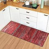Alfombrillas de Cocina de Grano de Madera alfombras de Puerta de Entrada alfombras Decorativas para Sala de Estar alfombras Antideslizantes para Pasillo n. ° 12 50X80cm