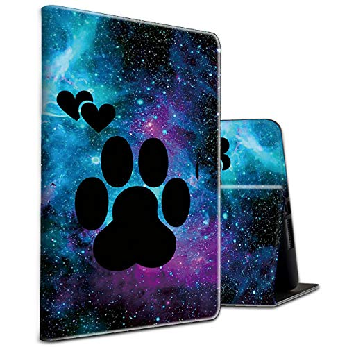 Fire HD 10 Tablet Case 10.1' (2019/2017/2015 Release) Galaxy Dog Paw Shockproof Slim PU Leather Cover with Auto Sleep/Wake for All-New Amazon Kindle Fire 10 (9th / 7th / 5th Generation)