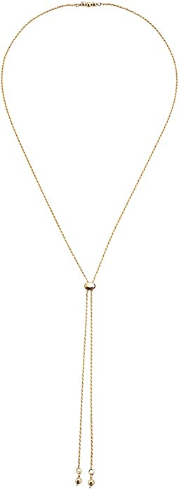 Dee Berkley - Bolo Convertible Necklace Sterling Silver 14KT Gold Overlay