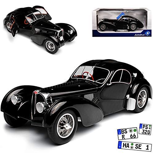 Solido Bugatti Atlantic Typ 57 SC Coupe Schwarz 1934-1940 1/18 Modell Auto