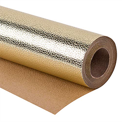 WRAPAHOLIC Wrapping Paper Roll - Sparkle Gold for Birthday, Holiday, Wedding, Baby Shower Wrap - 30 inch x 16.5 feet
