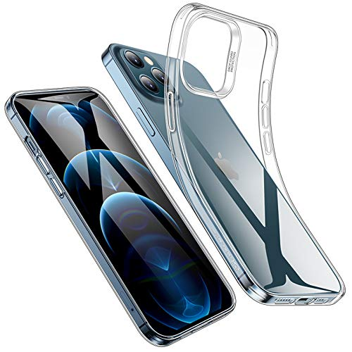 ESR Funda TPU Compatible con iPhone 12 Pro MAX 6.7''(2020), Carcasa Anti-Choques y Anti- Arañazos, Funda Silicona HD Clara, Transparente