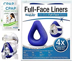 CPAP MASK LINERS protects your skin from the direct contact with the CPAP mask. It may also help reduce noisy air leaks, excessive moisture, skin irritation, and may help provide additional comfort while you are on your CPAP mask. RECOMMENDED FOR: Fo...