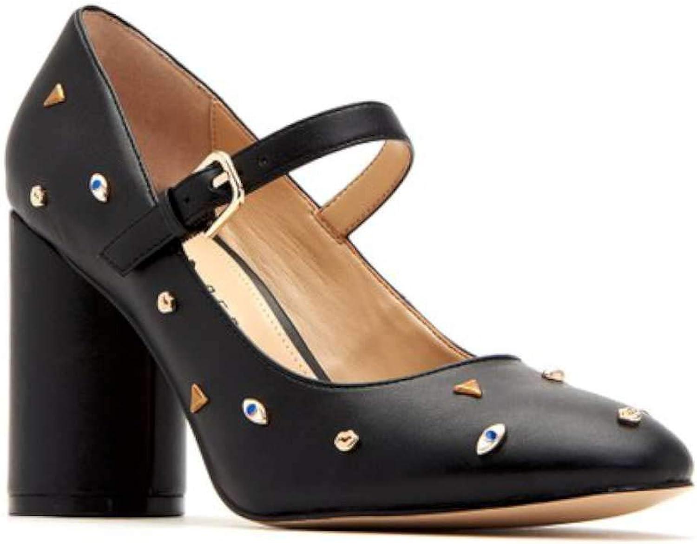Katy Perry kvinnor, Ophelia läder, Closed Toe Toe Toe Ankle Strap, klassiska pumper.  nya exklusiva high-end