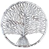 Eximious India Wall Art Decor Rustic Whitewash Wooden Modern Plaque for Living Room Bedroom and Farmhouse Decoration Easy Wall Mount Home Decor (Tree of Life)