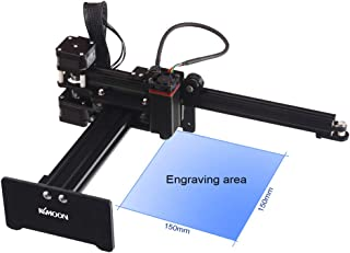 Desktop Laser Engraver, KKmoon 7000mw Portable Engraving Machine Mini Carver for Metal Engraving and Deep Wood Engraving and Cutting,Working Area 150mmx150mm