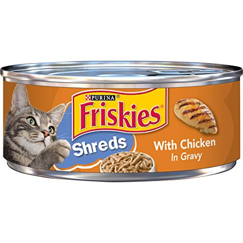 Purina Friskies Gravy Wet Cat Food, Shreds With Chicken - (24) 5.5 oz. Cans