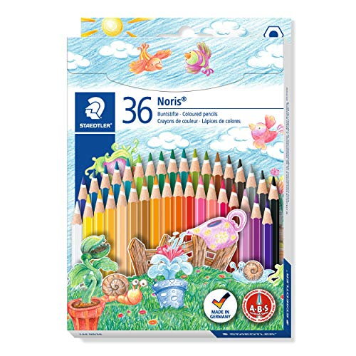 Staedtler- Noris Club Caja con 36 lápices de colores, Multicolor (144 ND36)