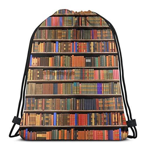 Libros Estantería Mochila con cordón Saco de Gimnasia Bolsa de cincha Bolsa de cuerda