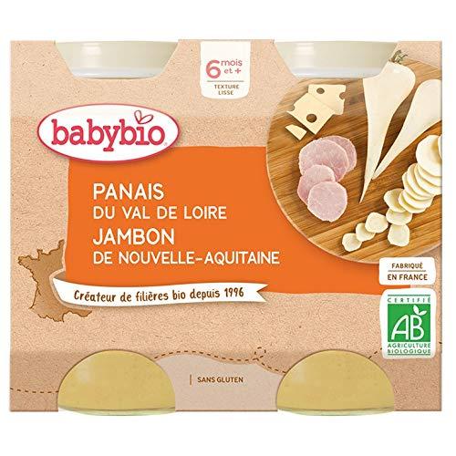 Babybio - Petits Pots Panais Jambon de Corrèze 2x200g - 6+ Mois - Lot de 3