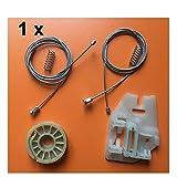 LIUWEI Adatta per BMW X5 E53 (1999-2007) Regolatore della Finestra Kit di Riparazione Slider Plastica Posteriore a Sinistra