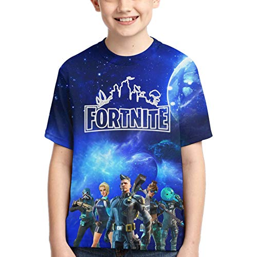 Epic Games Fortnite T Shirt 3D Print Fabric Soft, Comfortable and Dry for All-Day Comfort Suitable for Boys and Girls Size-S