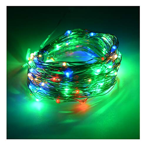 LED Solar String Lights Outdoor 2 Modes Wire Starry Fairy Lights,Lights for Bedroom, Christmas, Parties Decoration (Color : Colorful)