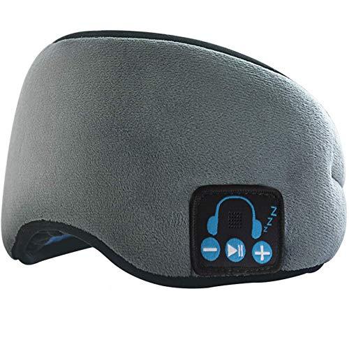 WLQWER Schlafkopfhörer, 3D-Upgrade-Schlafmaske Bluetooth 5.0 Drahtlose Schlafende Kopfphoen, Personalisierte Beliebte Geburtstagsgeschenke,Grau