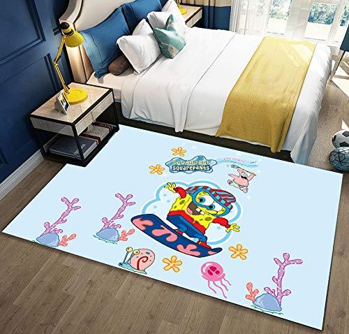 Kid Cartoon Unterwasser Koralle Schnecke Skateboard Teppich, Soft Touch Baby Kleinkind Spielmatte, Langlebig Ohne Zu Verblassen 80cmx150cm