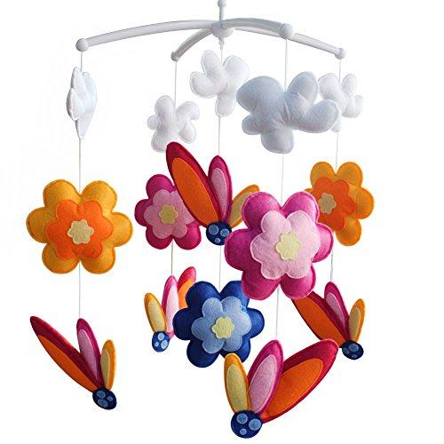 [Blühende Blumen] Musik-Mobil, buntes hängendes Spielzeug, entzückendes Geschenk