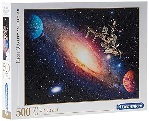 Clementoni- Puzzle 500 Piezas Estacion Espacial Internacional (35075.9) (Juguete)