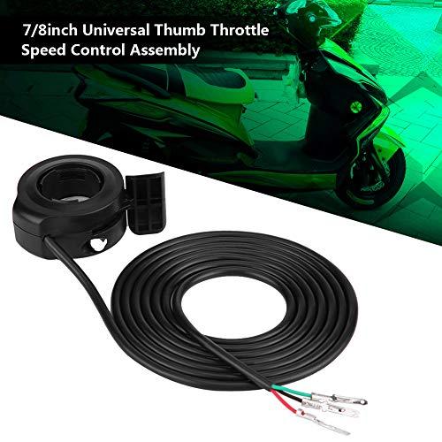 Daumengas 7/8″Universal Daumengas Drehzahlregler für E Bike Roller Beschleuniger, 22mm - 2