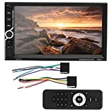 Double Din 7in Waterproof Touch Screen Radio for Audio Stereo Remote Control Car Video Player 7035UM - Wireless Remote Control Rear View Camera Steering Wheel Control