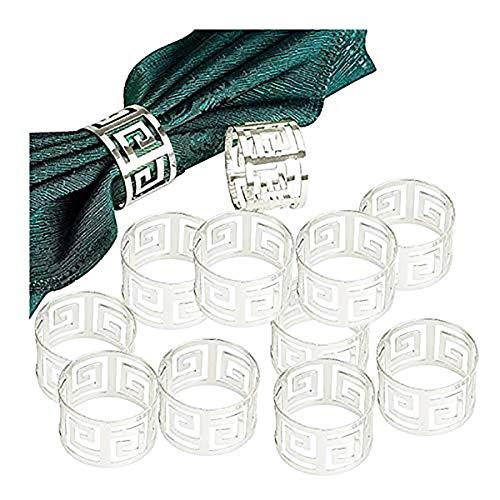 Gold Silber Serviettenringe, 6/12 Stück Metall Serviettenschnallen für Hochzeitsfeier Abendessen Jubiläum Tischdekoration