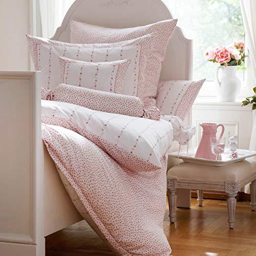 Janine Design Mako-Satin Bettwäsche Romantico 46015-01 1 Bettbezug 135 x 200 cm + 1 Kissenbezug 80 x 80 cm