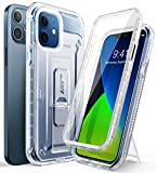 SUPCASE Unicorn Beetle Pro Series Case for iPhone 12 / iPhone 12 Pro (2020 Release) 6.1 Inch, Built-in Screen Protector Full-Body Rugged Holster Case (Frost)