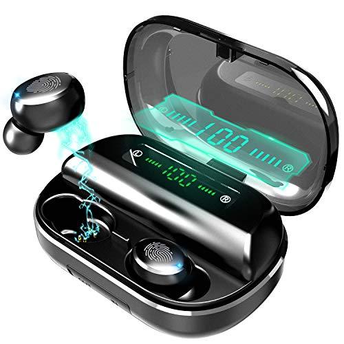 Vagalbox Audífonos Bluetooth Inalámbricos, Mini Invisible Auricular Estéreo Inalámbricos Bluetooth 5.0 Auriculares Deportivos Impermeable, con Estuche de Carga de 4000mAH