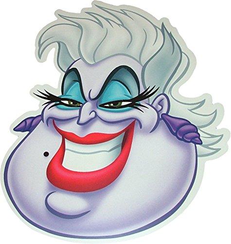 Halloween Ursula de la Petite sirène de Disney -Masques de Costume fabriqués à partir d'une Carte Rigide - Produit Disney Officiel
